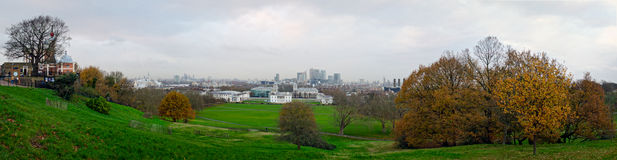 London, panoramic skyline from Greenwich Royalty Free Stock Images