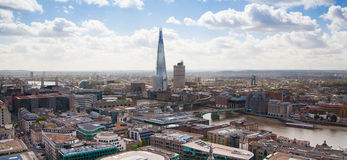 London panoramic view from St. Pauls cathedral. Royalty Free Stock Image