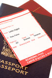 London, Par�s boarding pass Royalty Free Stock Photography