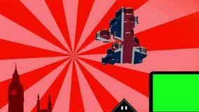 London parallax - Sunburst - Red