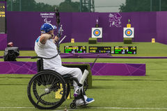 London 2012 Paralympic game. Archery Royalty Free Stock Photos