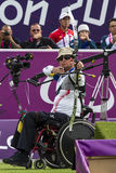 London 2012 Paralympic game. Archery Stock Images