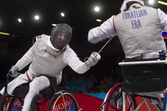 London 2012 Paralympic game. Fencing Stock Images
