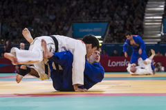 London 2012 Paralympic game. Judo Royalty Free Stock Image
