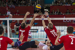 London 2012 Paralympic game. Volleyball Stock Photo