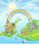 london paris regnbåge Arkivbilder