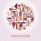London and Paris Travel royalty free illustration