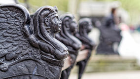 London Park bench Sphinx Royalty Free Stock Image