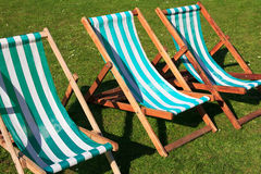 London Park Deck Chairs Royalty Free Stock Photography