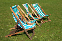 London Park Deck Chairs Royalty Free Stock Images