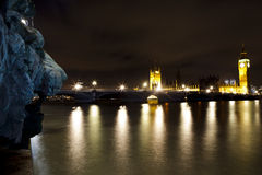 London Parlament at Night Royalty Free Stock Images
