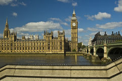 London Parliament and Big Ben. On Thames river Stock Photography