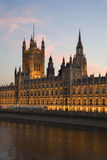 London - parliament in evening Stock Photos