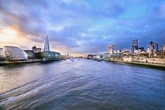 London. Parliament, River, Brigde, Dove, Cloud Stock Photo