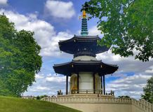 The London Peace Pagoda. In the Battersea Park has been a landmark along the Thames for over 20 years. It was built by monks, nuns and followers of Nipponzan My stock photos