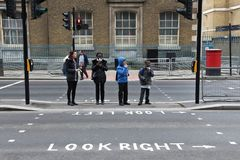 London pedestrian crossing Royalty Free Stock Photography