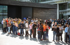 LONDON,  People waiting to see Mayor of London building in open day event Royalty Free Stock Image