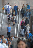 LONDON, people walking on the stairs,  on south bank Royalty Free Stock Image