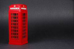 London Phone Booth. Shiv Souvenirs Ltd., 1:18 scale diecast collectible London UK Royalty Free Stock Photos