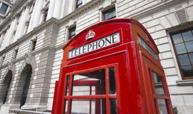 London Phone Booth. Phone booth in London, UK Stock Photo