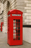 London phone booth. London red phone booth Stock Photography