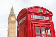 London phone booth and big ben royalty free stock images