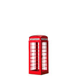London phone booth isolated on white Royalty Free Stock Images