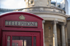 London phone booth. Red phone booth in London, England Stock Photography