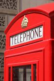 London phone booth. Red telephone box in England Stock Photos