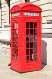 London phone booth. London red telephone booth - symbol of United Kingdom Stock Image