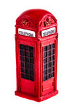 London phone booth. A typical red english phone booth isolated over a white background Stock Photography