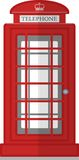 London Phone Booth  on White Photo-Realistic Vector Illustration Stock Photography