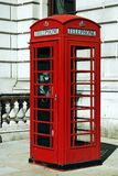 London Phone Booths. Traditional red London phone booths Royalty Free Stock Images