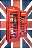 London phonebooth, Union Jack Royalty Free Stock Images