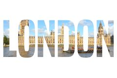 London photo sign Royalty Free Stock Photography