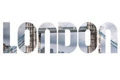 London photo word. London, UK - travel postcard word sign. City name text Stock Photo