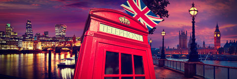 London photomount with telephone box Stock Photography
