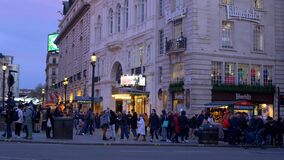 London Piccadilly Circus street view - LONDON, ENGLAND - DECEMBER 10, 2019