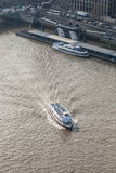 A London pleasure cruiser on the river Thames Stock Photography
