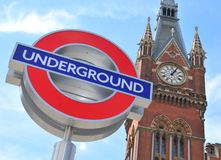 london pod ziemią Obrazy Royalty Free