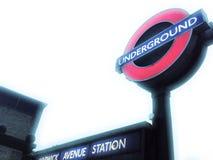 london pod ziemią Fotografia Stock
