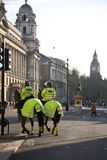 London Police. A picture of the london police horse back Stock Image