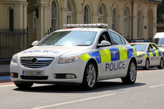 London Police Car (front view) Royalty Free Stock Image
