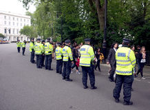 London police during a demonstration Royalty Free Stock Image