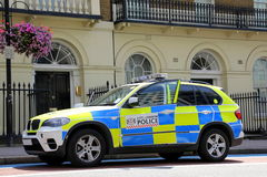 London-Polizeiwagen Lizenzfreie Stockfotos