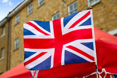 London Portobello road Market UK flag. England Royalty Free Stock Images