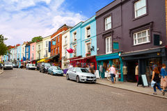 London Portobello road Market vintage magnifying in UK royalty free stock images