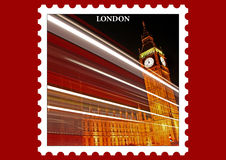 London Postage-Style Stamp Stock Photography