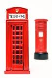 London postbox och telefonask Arkivfoton