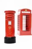 London postbox och telefonask Royaltyfri Bild